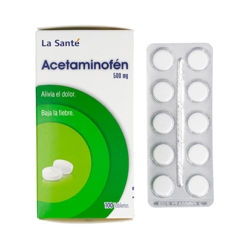 ACETAMINOFEN 500MG X 100TAB LS