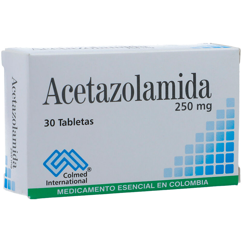 ACETAZOLAMIDA 250MG X 30TAB. PC