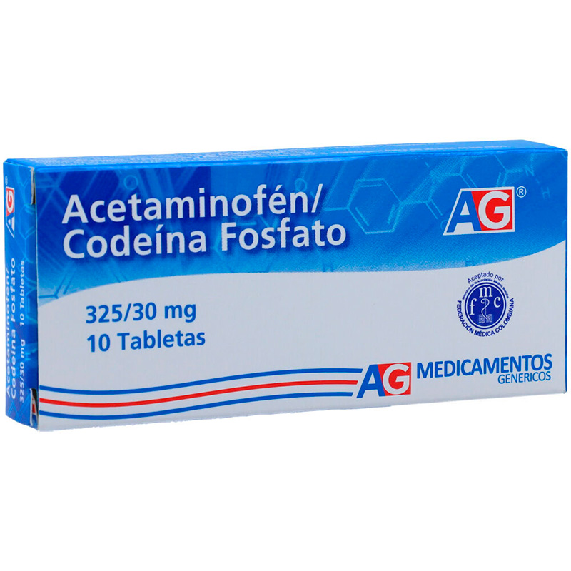 ACETAMINOFEN/CODEINA 325/30MG X 10TAB AG