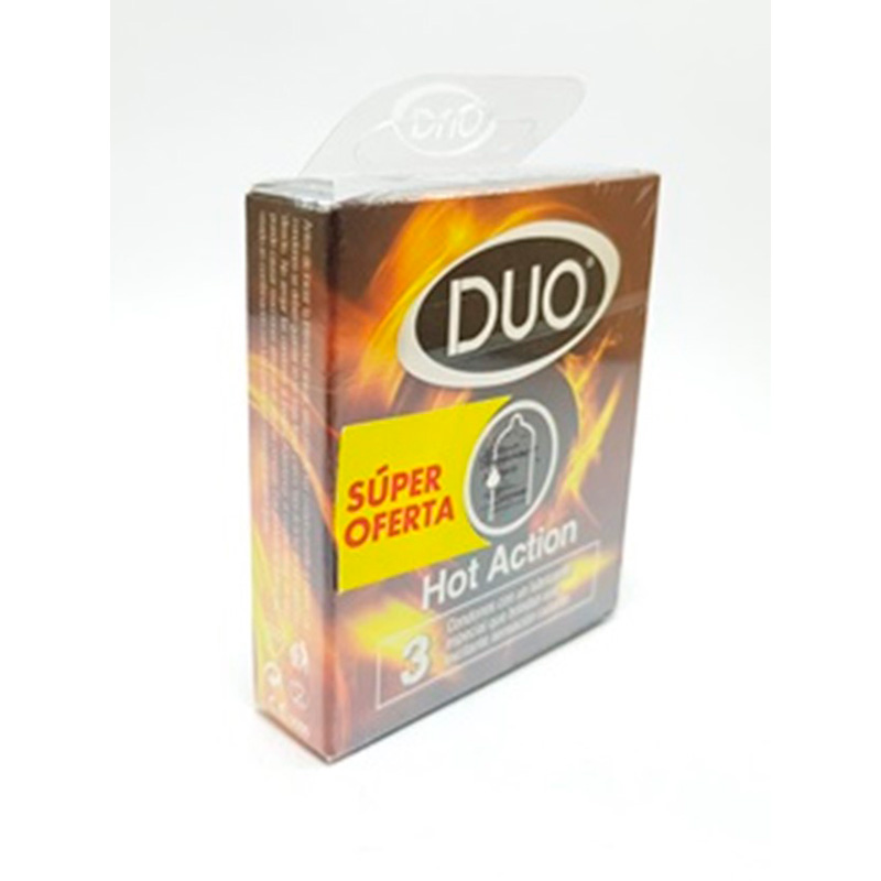 PRESERVATIVO DUO SUPER OFERTA HOT ACTION X 3UDS.BD