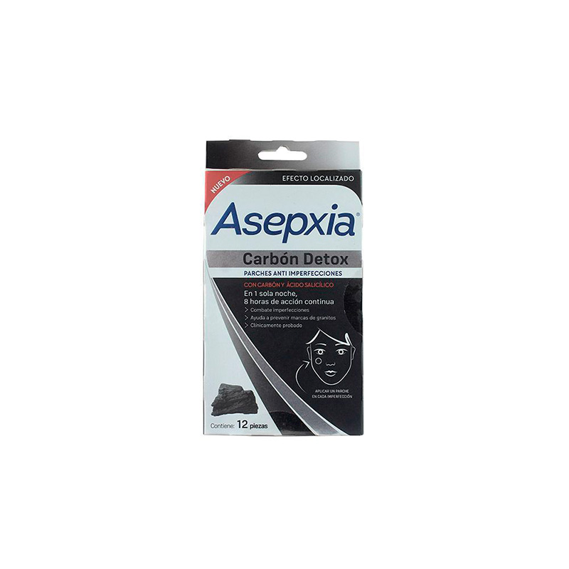PARCHE ASEPXIA CARBON ANTIMPE.12UNDS(SF)