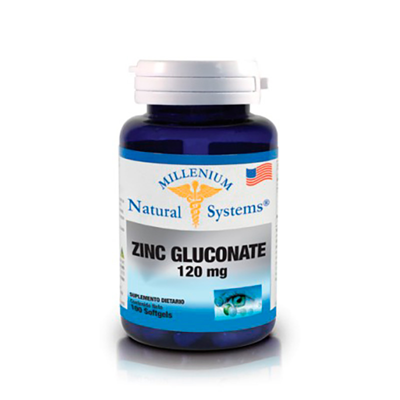 NATURAL SYSTEMS ZINC GLUCONATE 120MG X 100CAP.NS