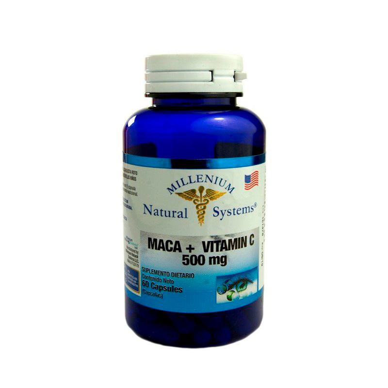 MACA 500MG+VITAMIN C X 60CAP.NS