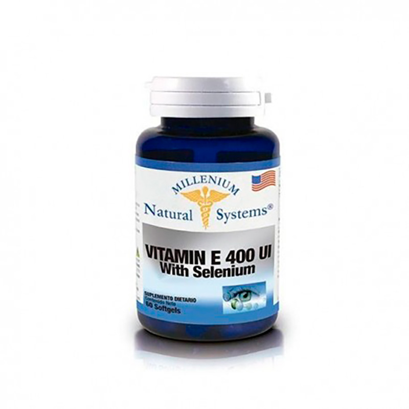 NATURAL SYSTEMS VITAMIN E 400IU CON SELENIUM X 60CAP.NS