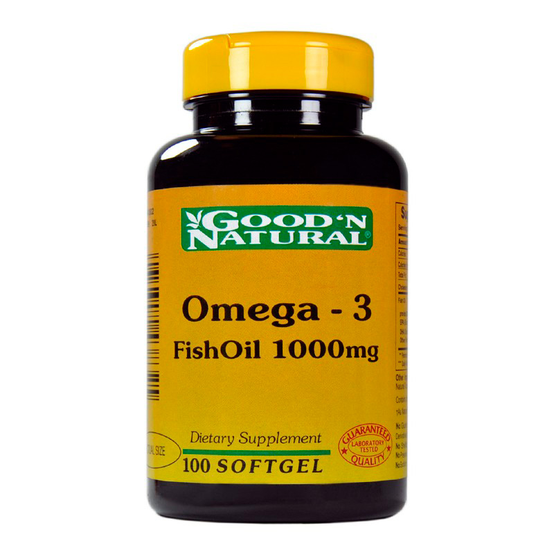 OMEGA-3 FISH OIL 1000MG 100CAP GN