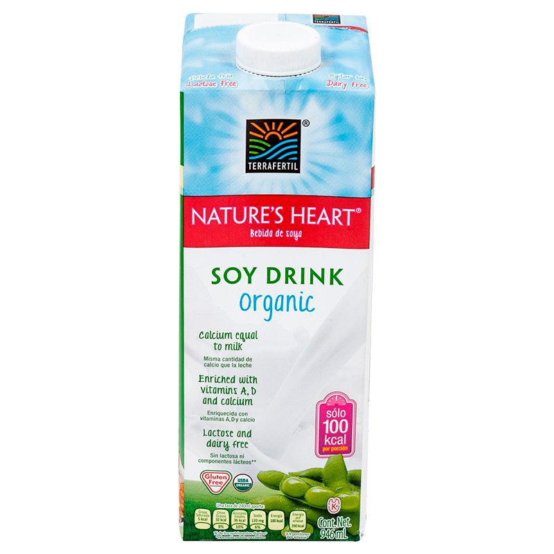 NATURES HEART BEBIDA DE SOYA SOY DRINK ORGANIC X 946ML.SF
