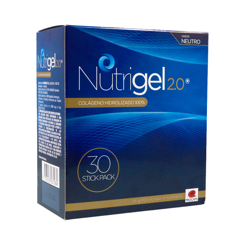 NUTRIGEL 2.0 NEUTRO X 30STICK.10GR.PC