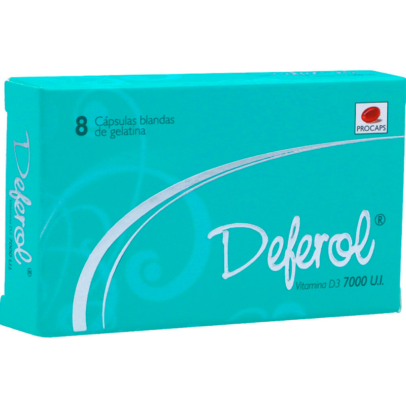DEFEROL VITA.D3 7000 UI X 8CAP.BLANDS.GELAT.PC