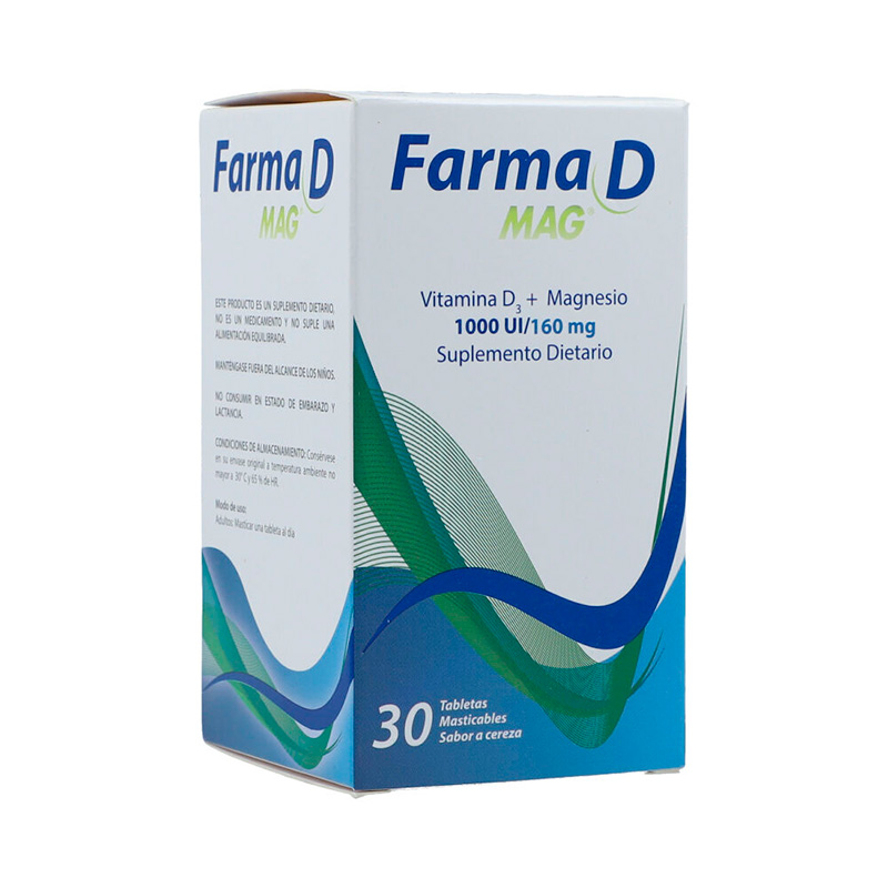 FARMA D MAG 30 TABLETAS MASTICABLES FC