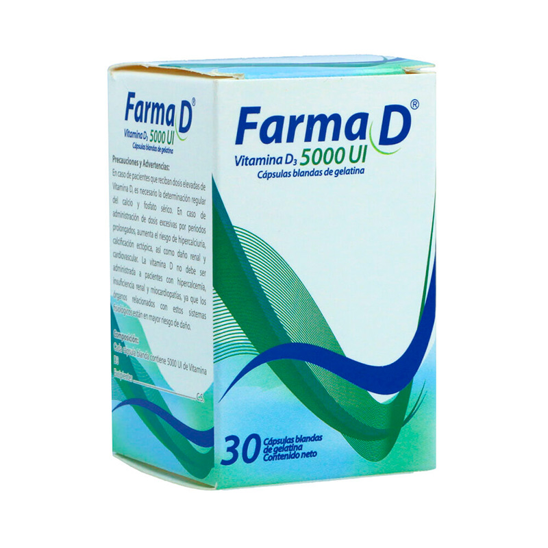 FARMA D VITAMINA D3 5000UI 30 TBS