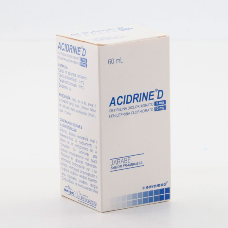 ACIDRINE D JARABE FAMBRUESA 5/10MG X 60ML.NM
