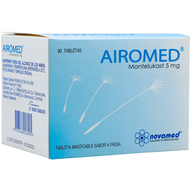 AIROMED 5MG X 90TAB NM