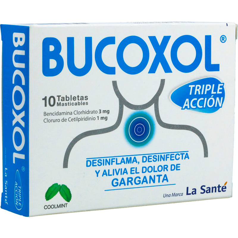 BUCOXOL TRIPLE ACCION COOLMINT X 10TAB