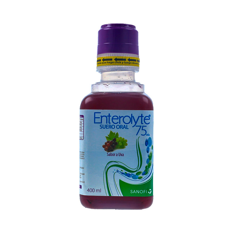 ENTEROLYTE 75MEQ SUERO ORAL UVA X 400ML.SF