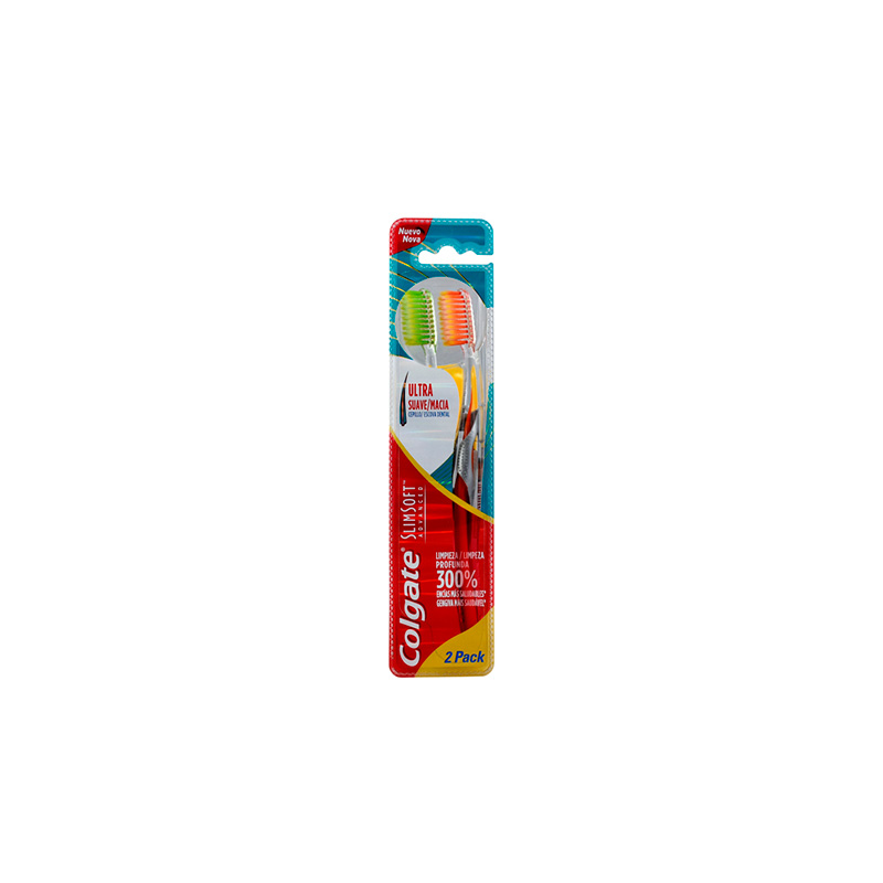 COLGATE CEP.DENTAL SLIM SOFT ADVANCE U.SUAVE X 2UD