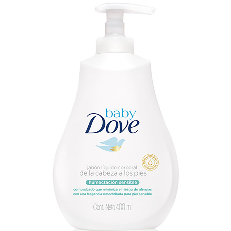 JABON DOVE BABY LIQUI.HUM.SENSIBLE 400ML