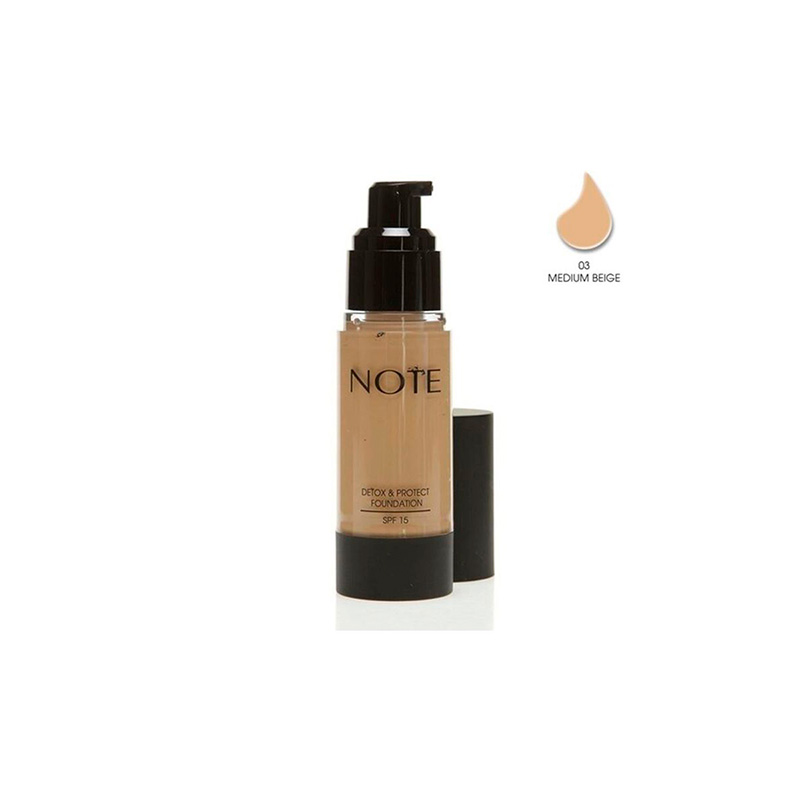 NOTE DETOX & PROTECT FOUNDATION SPF15 N°3 MEDIUM BEIGE