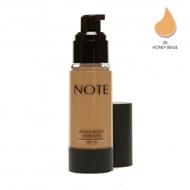 NOTE DETOX & PROTECT FOUNDATION SPF15 N°5 HONEY BEIGE