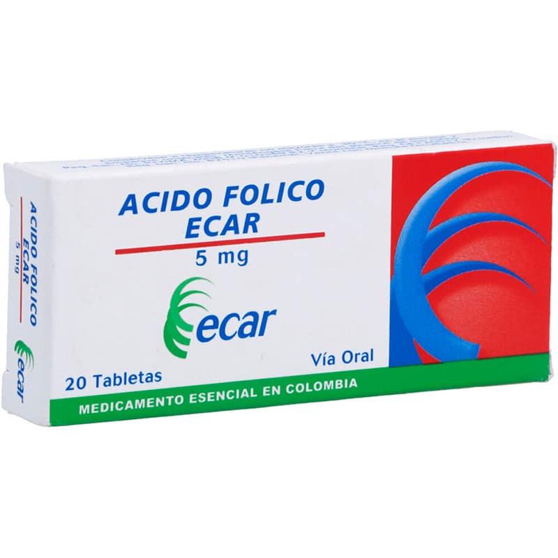 ACIDO FOLICO 5MG X 20TAB. EC