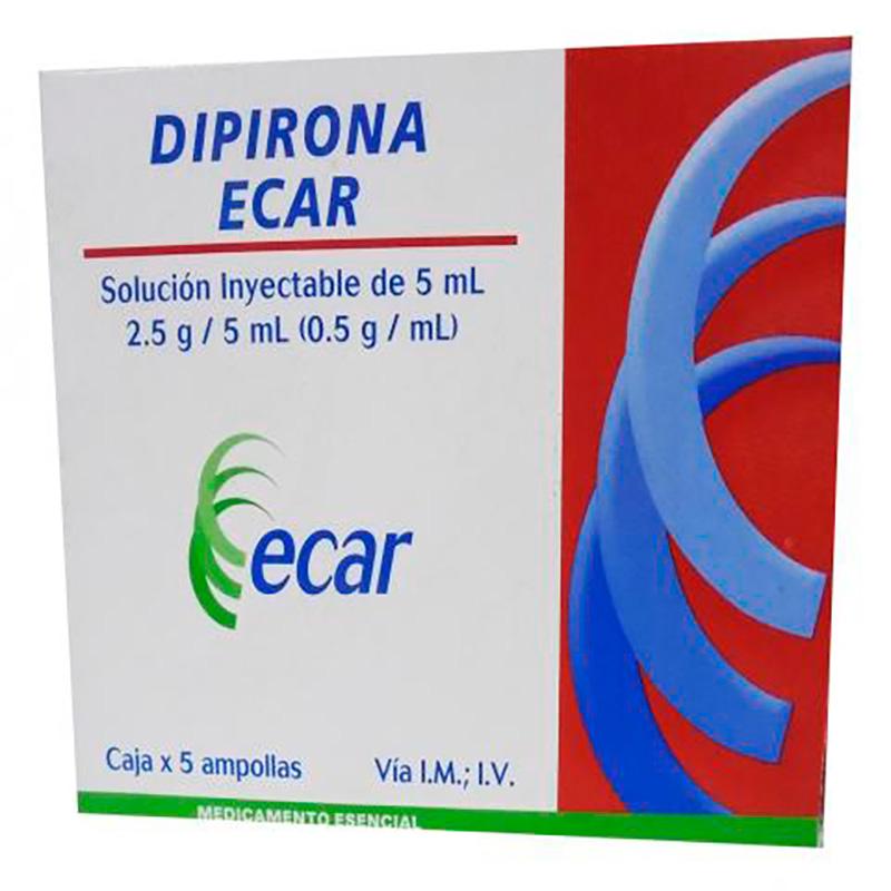 DIPIRONA AMPOLLA 5ML X 5UD EC