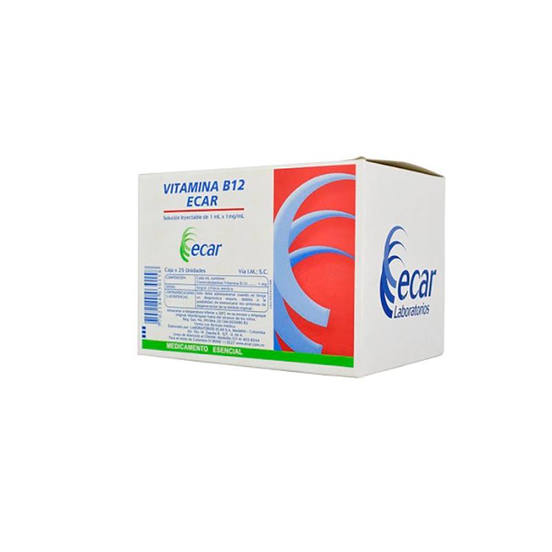 VITAMINA B12 1ML X 25 AMPOLLAS. EC
