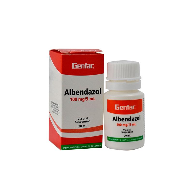 ALBENDAZOL SUSPENSION100ML X 20ML GF