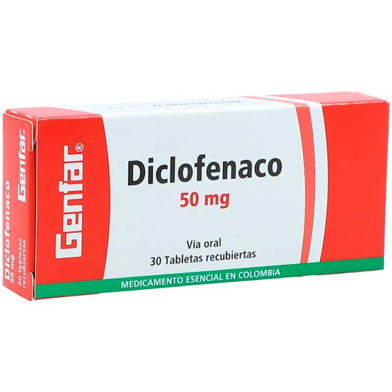 DICLOFENACO 50MG X 30TAB.GF