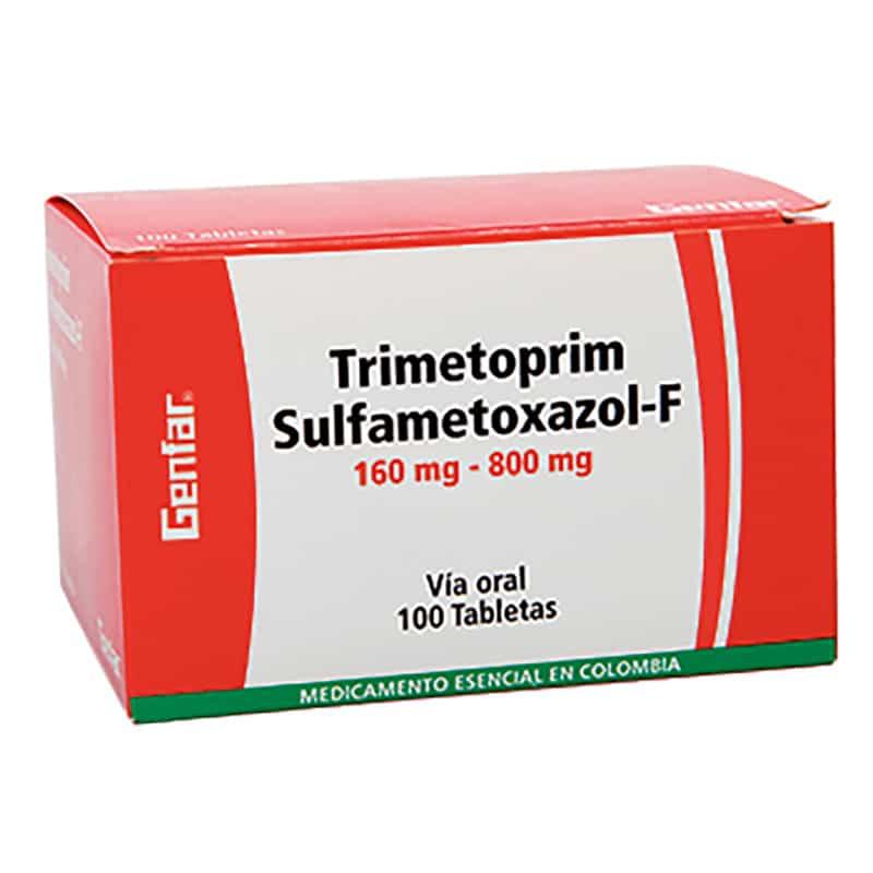 TRIMETOPRIM SULFA-F 160MG/800MG X 100TAB.GF