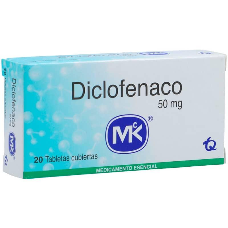 DICLOFENACO 50MG X 20TAB. MK