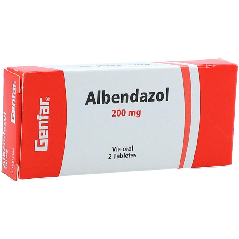 ALBENDAZOL 200MG X 2 TAB. GF