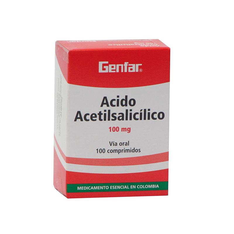 ACIDO ACETILSALICILICO 100MG X 100TAB WT