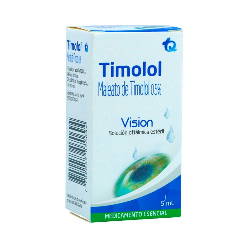 TIMOLOL MALEATO 0.5% SOL.OFTAL. X 5ML.MK
