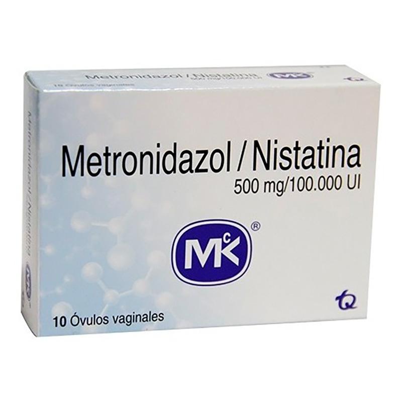 METRONIDAZOL/NISTATINA 500MG/100.000 U.I X 10OVU.MK