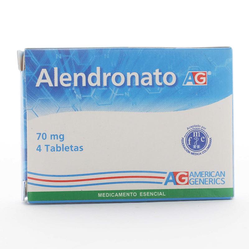 ALENDRONATO 70 MG 4 TABLETAS AG