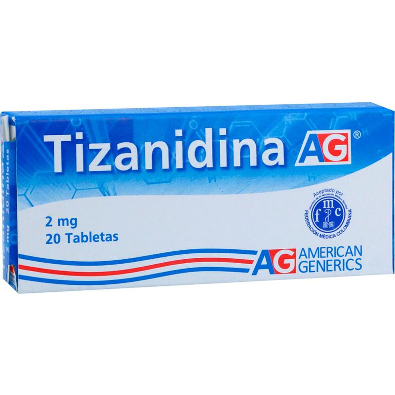 TIZANIDINA 2MG X 20TAB LF