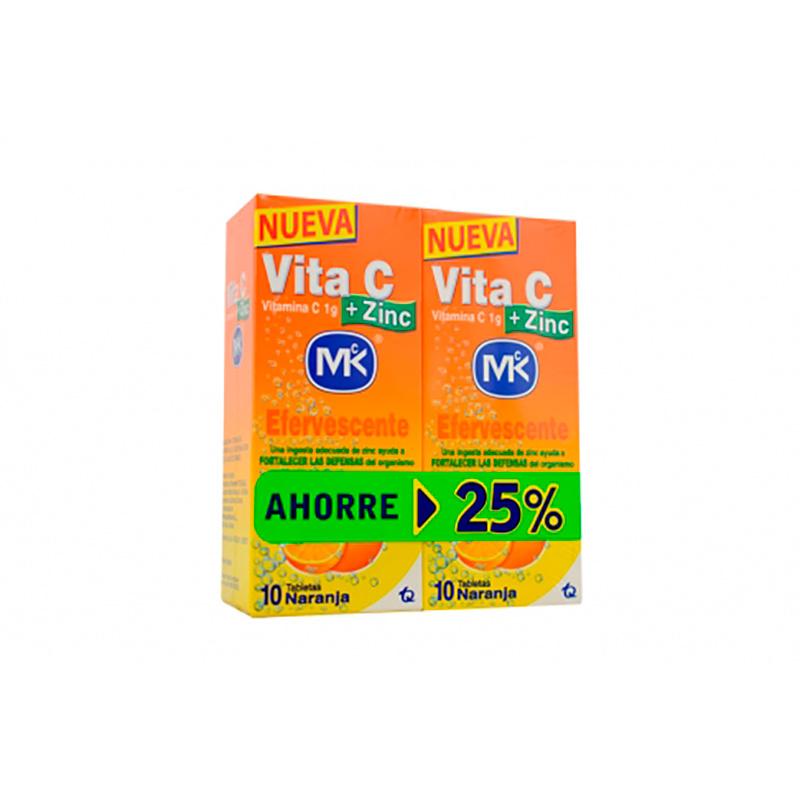 VITA C 1GR+ZINC 2FCOS X 10TAB AHORRE 25%