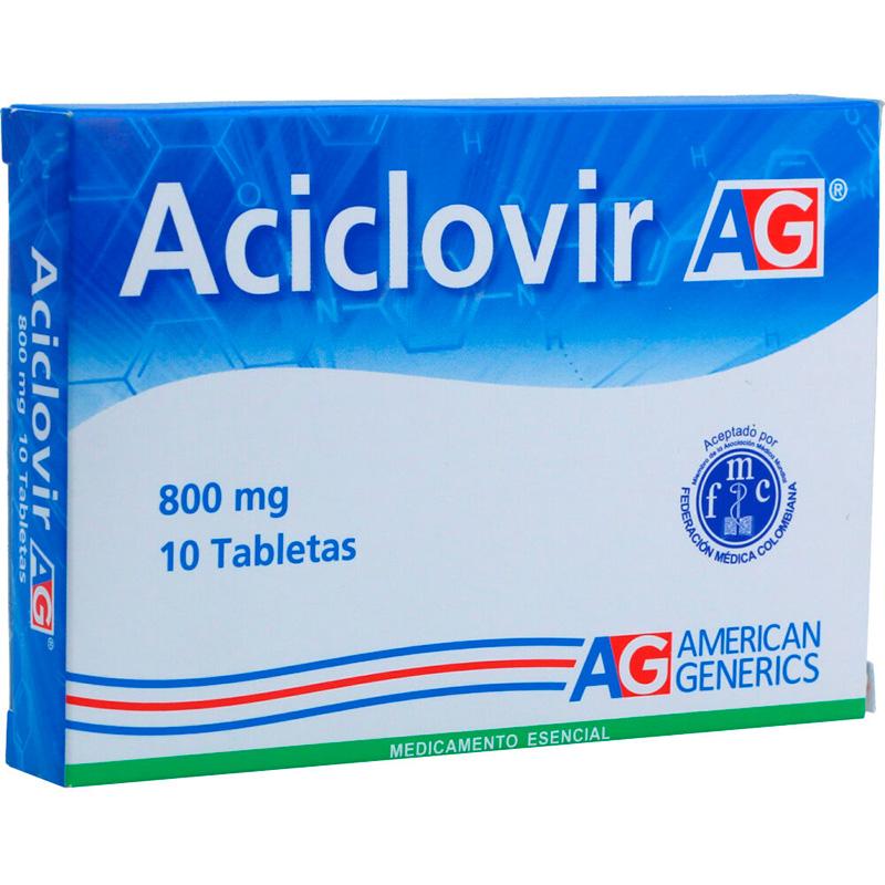 ACICLOVIR 800 MG 10 TABLETAS AG