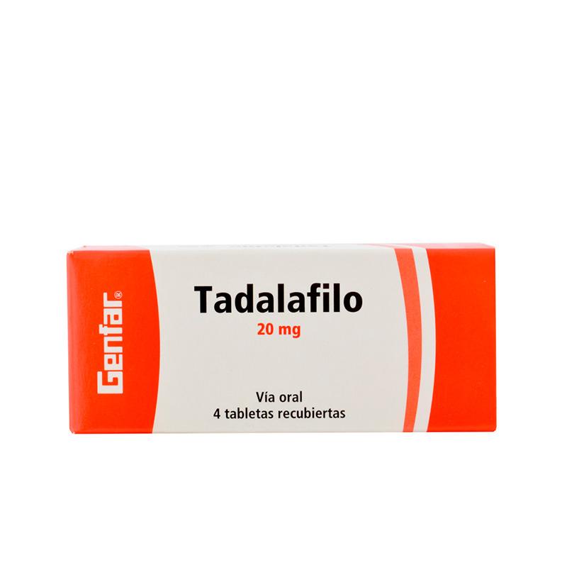 TADALAFILO 20MG X 4COMP GF