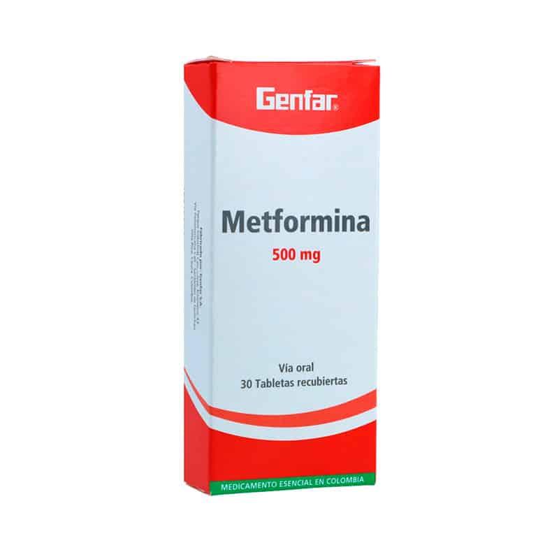 METFORMINA 500MG X 30TAB.GF