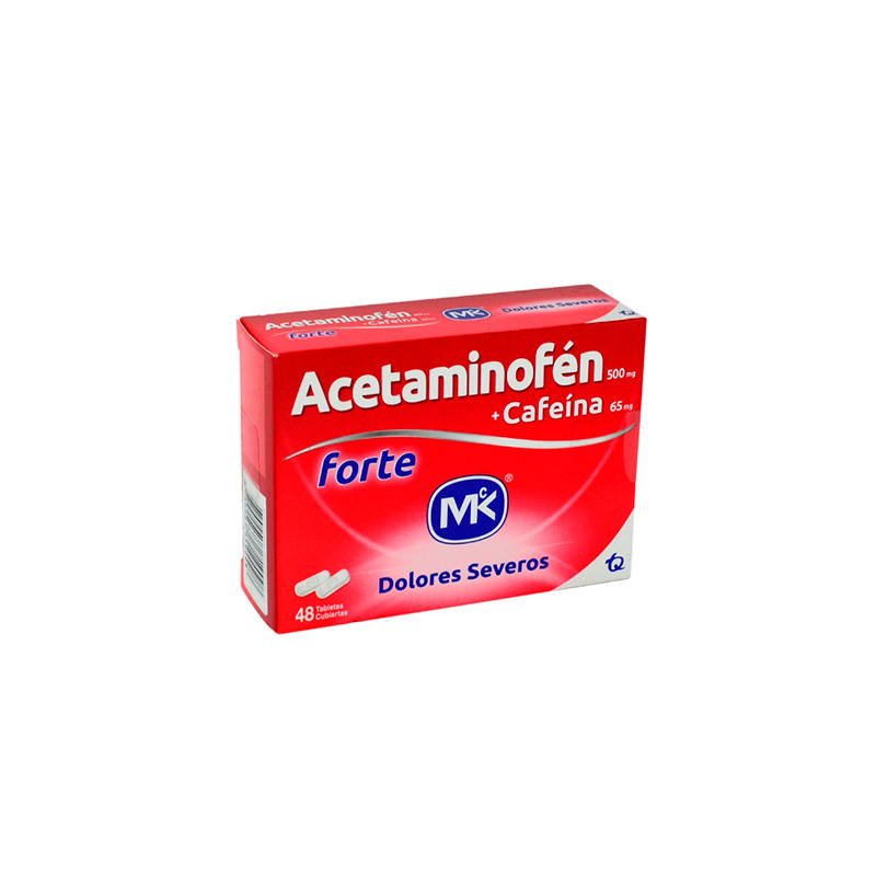 ACETAMINOFEN FORTE 48 TABLETAS MK