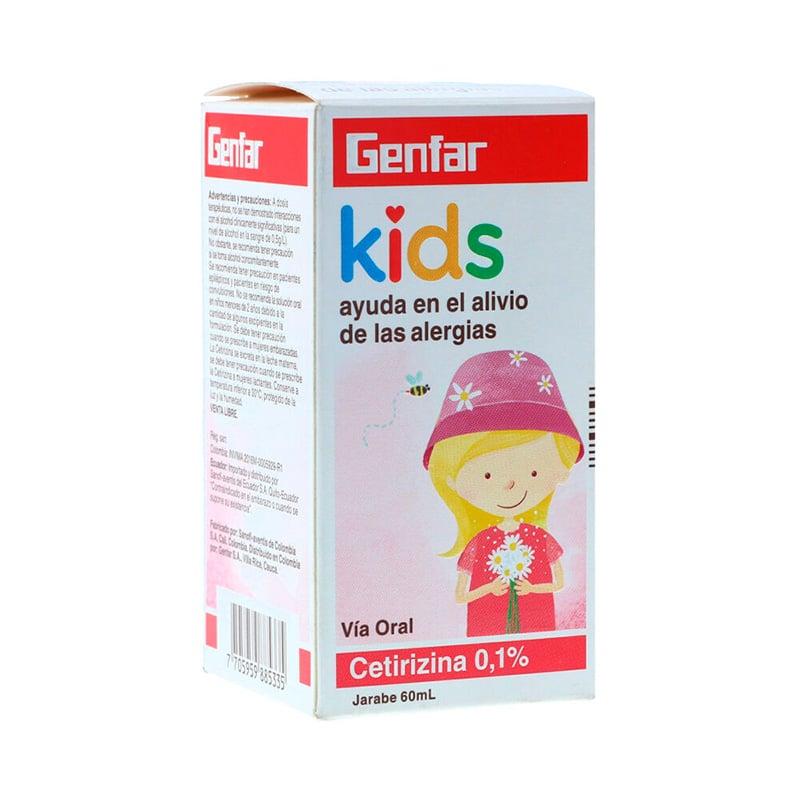 CETIRIZINA JARABE 0.1% KIDS X 60ML.GF