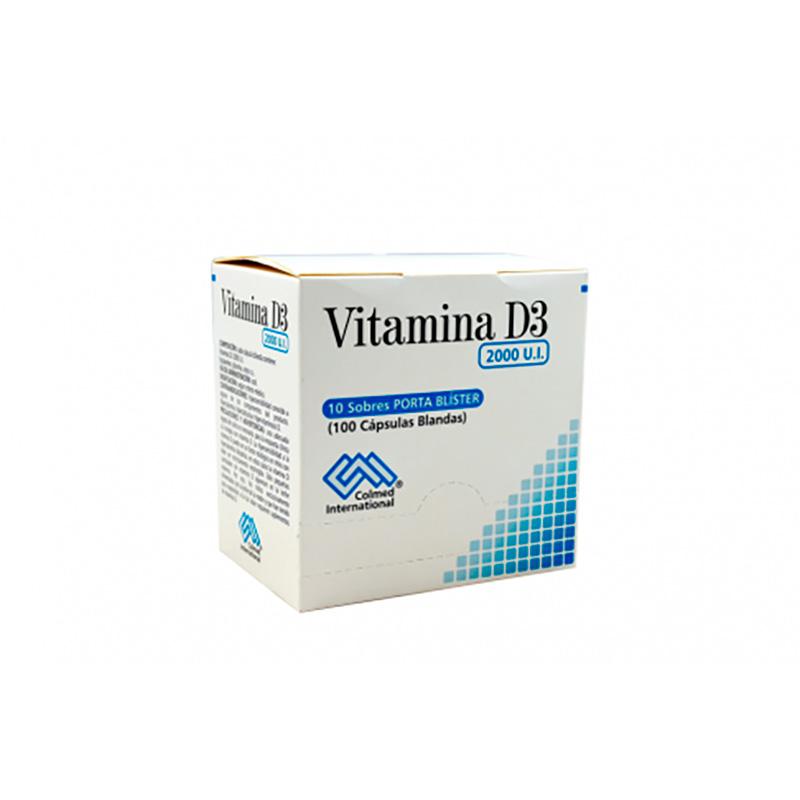 VITAMINA D3 2000UI X 100CAP PC