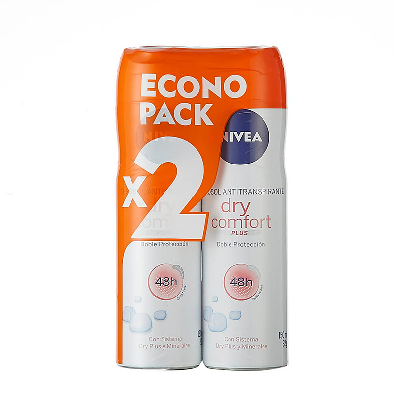 2 DTE.NIVEA SPRAY DRY FEM.COMF.150 ECONO