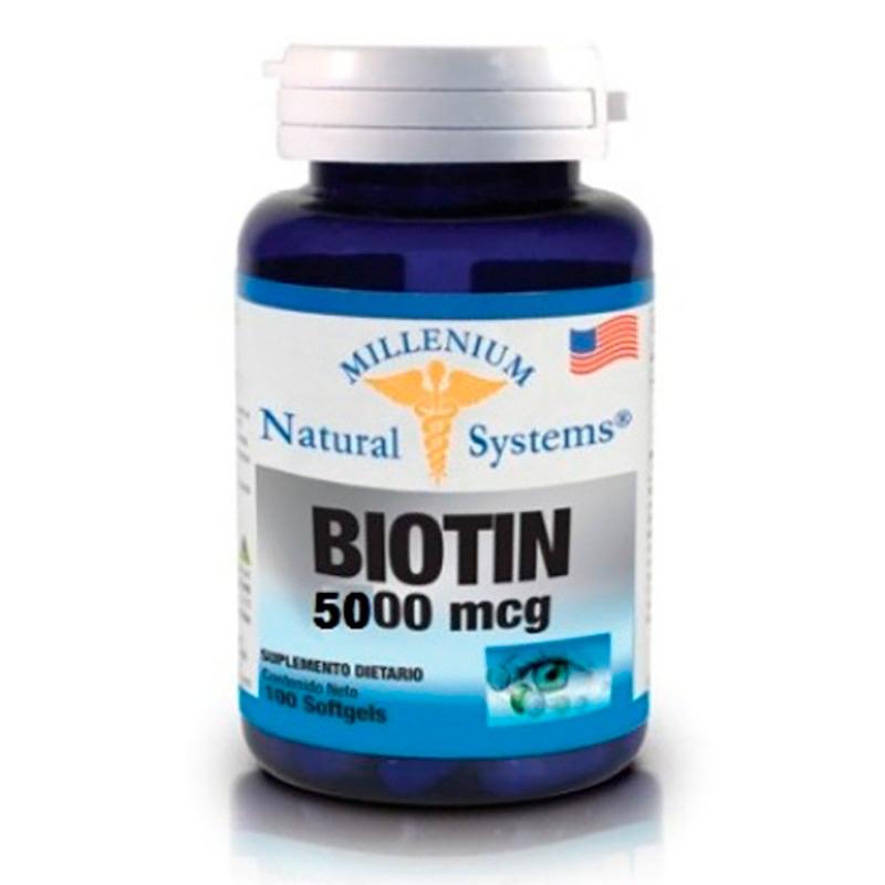 BIOTIN 5000MCG X 100 CAP MILLENIUM