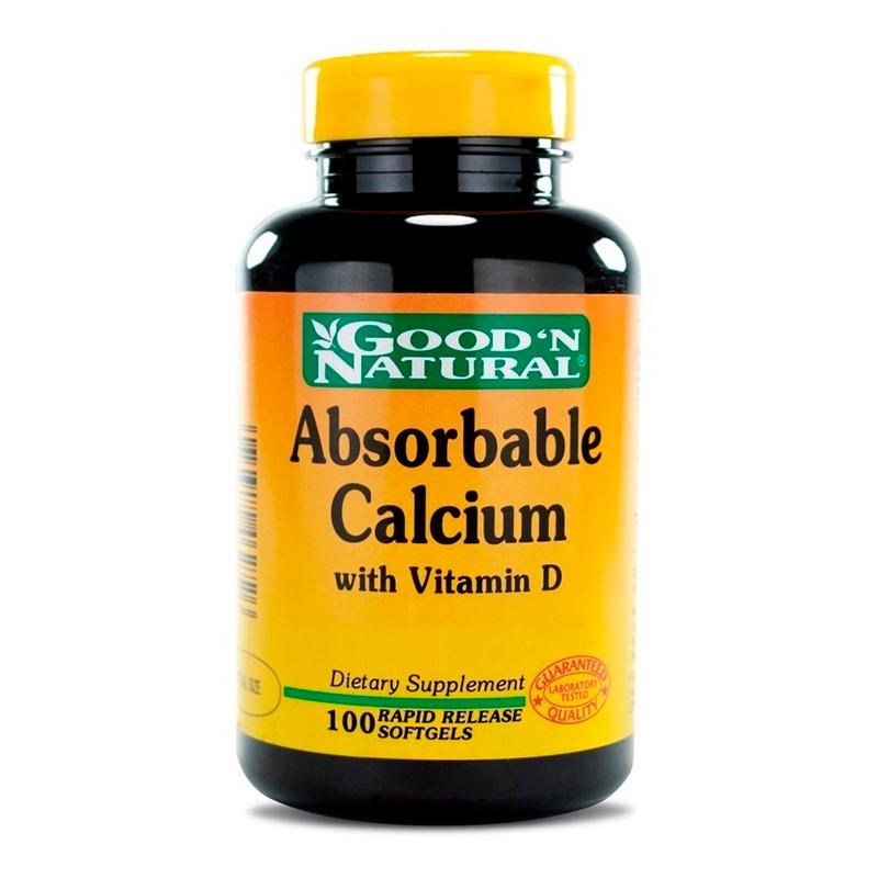 ABSORBABLE CALCIUM+VIT D X 100CAP GN