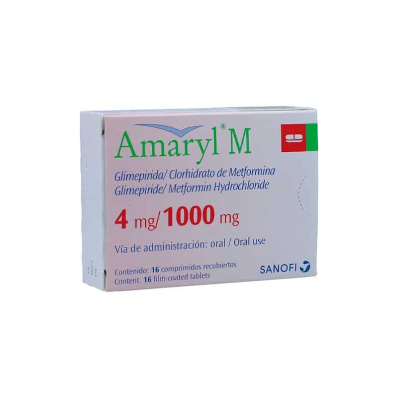 AMARYL M 4MG/1000MG X 16COMP.SN