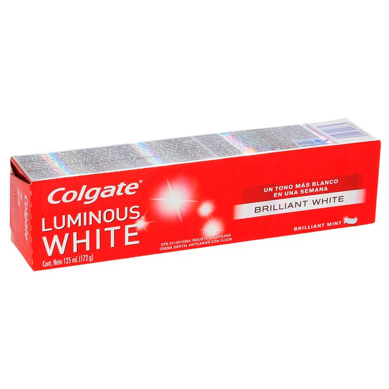 COLGATE LUMINOUS WHITE  CREMA DENTAL X 125ML CP