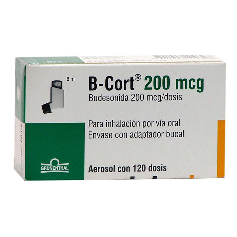 B-CORT AEROSOL 200MCG X 12 DOSIS.GRU