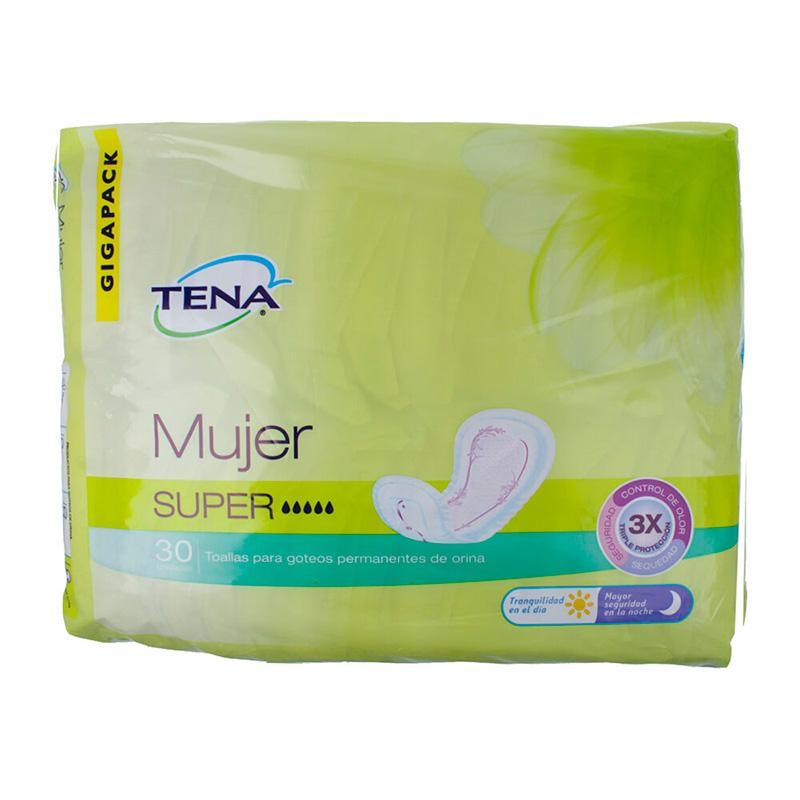 TENA TOALLAS MUJER SUPER X 30UDS.PF
