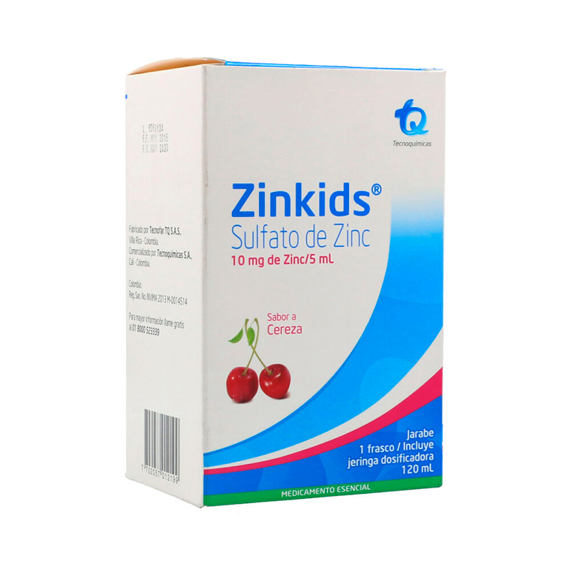 ZINKIDS JARABE CEREZA X 120ML.MK